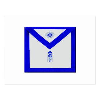 Masonic Junior Warden Apron Postcard