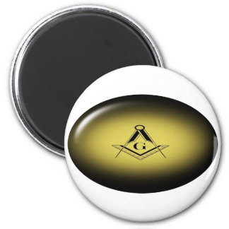 Masonic Light 2 Inch Round Magnet
