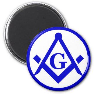Masonic Lodge 2 Inch Round Magnet