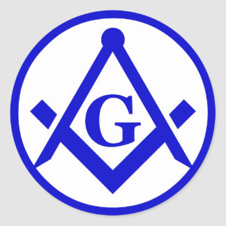 Masonic Lodge, NOT WATERPROOF Round Sticker