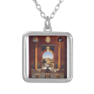 Masonic Lodge Silver Plated Necklace