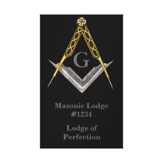 Masonic Lodge Wall Hanging Canvas Print