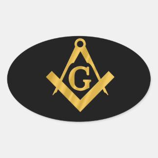 "Masonic ""Mason for Life"" Oval Sticker"
