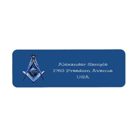 Masonic Minds (Blue) Return Address Label