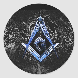 Masonic Minds (BlueSwish) Classic Round Sticker