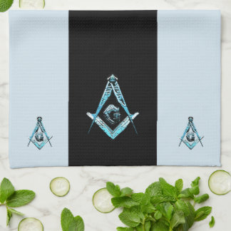 Masonic Minds (BrightBlue) Kitchen Towel