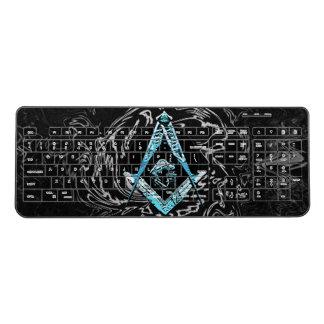 Masonic Minds (BrightBlueSwish) Wireless Keyboard