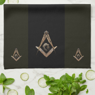 Masonic Minds (Golden) Kitchen Towel
