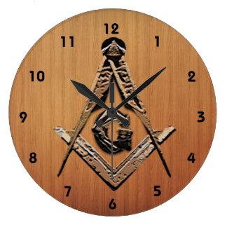 Masonic Minds (Golden) Large Clock