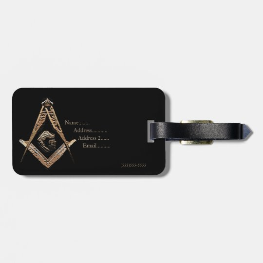 Masonic Minds (Golden) Luggage Tag