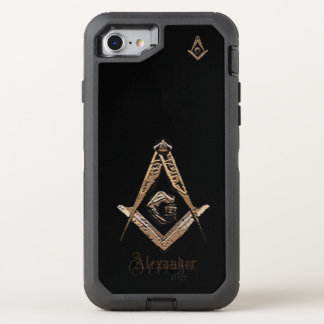 Masonic Minds (Golden) OtterBox Defender iPhone 8/7 Case