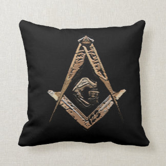 Masonic Minds (Golden) Throw Pillow