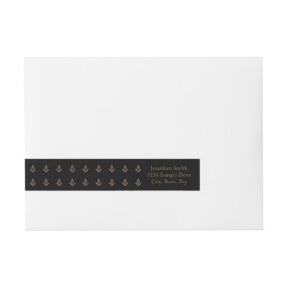 Masonic Minds (Golden) Wraparound Address Label