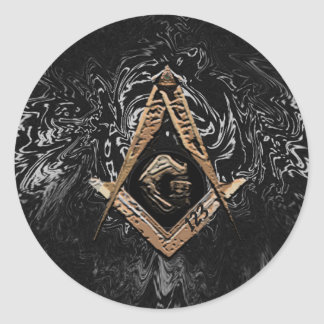 Masonic Minds (GoldenSwish) Classic Round Sticker