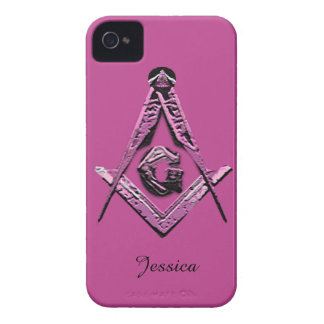 Masonic Minds (Pink) iPhone 4 Case-Mate Cases