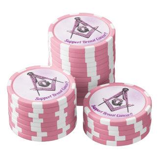 Masonic Minds (PinkAwareness) Poker Chips