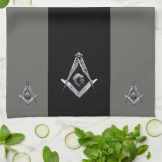 Masonic Minds (Silvery) Kitchen Towel