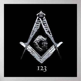 Masonic Minds (Silvery) Poster