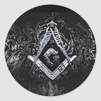Masonic Minds (SilverySwish) Classic Round Sticker