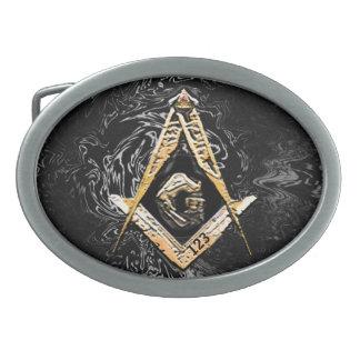 Masonic Minds (Swish) Oval Belt Buckle