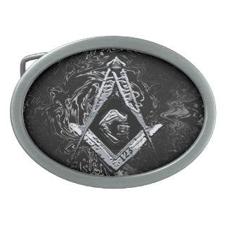 Masonic Minds (Swish) Oval Belt Buckles