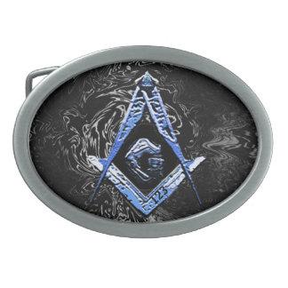 Masonic Minds (SwishBlue) Oval Belt Buckles