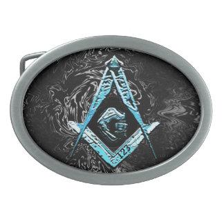Masonic Minds (SwishBrightBlue) Belt Buckles