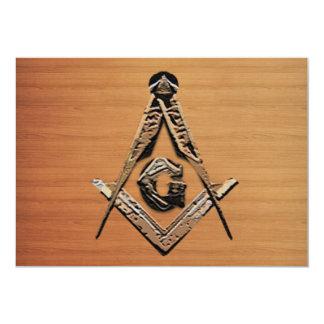 Masonic Minds (Wooded) Card