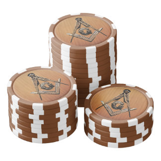 Masonic Minds (Wooded) Poker Chips