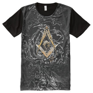 Masonic Minds (Yellowish) All-Over-Print T-Shirt