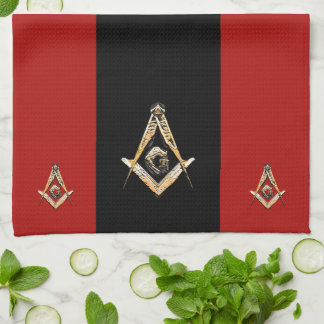 Masonic Minds (Yellowish) Kitchen Towel