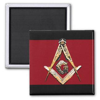 Masonic Minds (Yellowish) Square Magnet