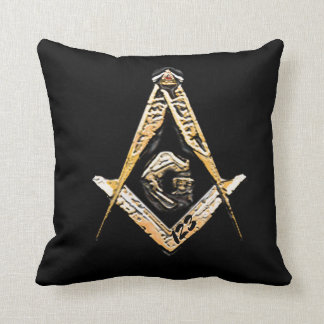 Masonic Minds (yellowish) Throw Pillow