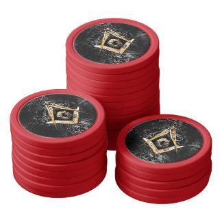 Masonic Minds (YellowishSwish) Poker Chips