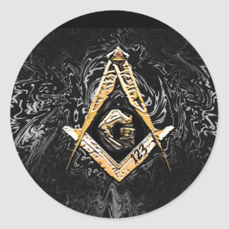 Masonic Minds (YellowishySwish) Classic Round Sticker