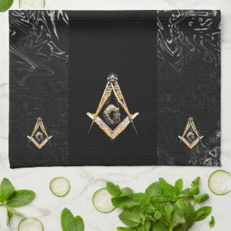 Masonic Minds (Yellowswish) Kitchen Towel