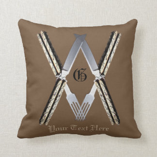 Masonic MouthsSs Throw Pillow