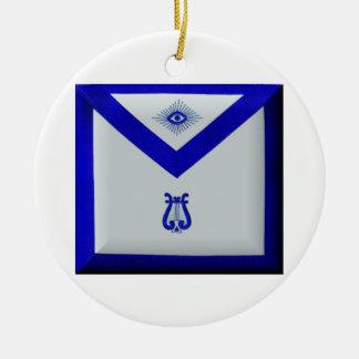 Masonic Organist Ceramic Ornament