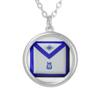 Masonic Organist Silver Plated Necklace