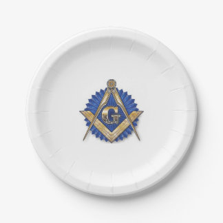 Masonic paper plates 7 inch paper plate
