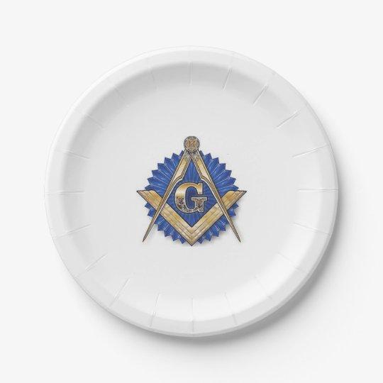 Masonic paper plates 7 inch paper plate
