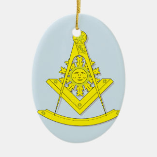 MASONIC PAST MASTER CERAMIC ORNAMENT