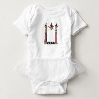 Masonic Pillars Baby Bodysuit