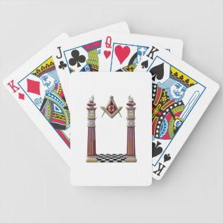 Masonic Pillars Bicycle Playing Cards