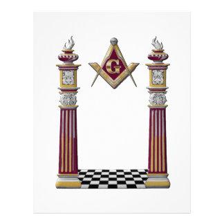 Masonic Pillars Letterhead