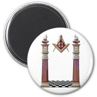 Masonic Pillars Magnet