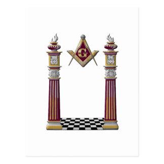 Masonic Pillars Postcard