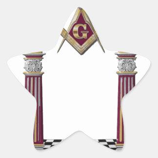 Masonic Pillars Star Sticker