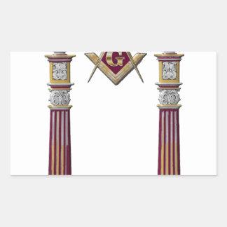 Masonic Pillars Sticker