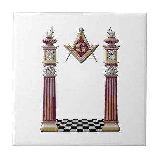 Masonic Pillars Tile